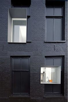 th2Studio | Our City Sanctuary inspiration | Black painted townhouse