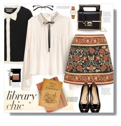 Studying session by nineseventyseven on Polyvore featuring polyvore fashion style Boutique Moschino Tory Burch Charlotte Olympia Salvatore Ferragamo MICHAEL Michael Kors EyeBuyDirect.com Bobbi Brown Cosmetics clothing librarychic