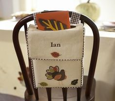 Mailbox Thanksgiving Chairbacker - contemporary - holiday decorations - by Pottery Barn Kids