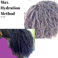 Best Max Hydration Method breakdown I& seen so far AND I have most the products I need already. This method might be a go for me. Natural Hair Tutorials, Natural Hair Tips, Natural Hair Journey, Be Natural, Natural Hair Styles, Max Hydration Method, Hair Like Wool, Hair Milk, Natural Hair Regimen
