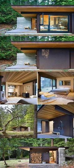 Tiny House And Small Space Living (small house architecture) Island Design, Prefab, Style At Home, Modern Architecture, Sustainable Architecture, Exterior Design, Future House, New Homes, Cottage