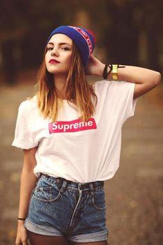 beauty, cap, fashion, girl, SUPREME, Shirt <3
