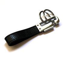 Mehr® Elegant Leather Detachable Key Chain - Quality Valet Key Holder - Smart Keychain (Black) Diy Keychain, Key Chain, Imagination, Freedom, Belt, Elegant, Luxury, Best Deals, Leather