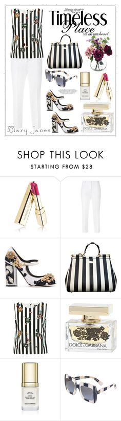 """""""Untitled #302"""" by meryflower ❤ liked on Polyvore featuring Dolce&Gabbana, stripes, maryjanes and dolceandgabanna"""