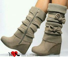 Nice boots, bows make It much more girly which I like