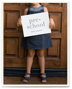1st Day of School Pictures- Take a picture of your kids on the first day, with outfit, backpack, by the front door, and a sign saying the year and their teachers name.  Then years down the road you won't forget! It would be cute to have them write it all down on the paper and see how their handwriting changes over the years