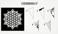 20 schemes is a delightful snowflakes out of paper - Christmas Arts And Crafts, Christmas And New Year, Christmas Time, Christmas Decorations, Holiday, Paper Snowflake Designs, Paper Snowflakes, Diy And Crafts, Paper Crafts