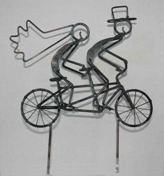 Tandem Bicycle Wedding Cake Topper. $42.50, via Etsy.