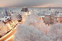 La ville vêtue de blanc