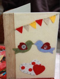 Valentines Day Card #felt #valentines day #card