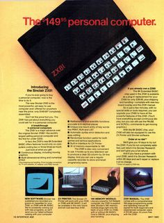 Sinclair ZX81 PC computer ad (1982).