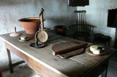Kennixton Farmhouse kitchen...museum of Welsh Rural Life. St Fagans....19thC cheese making equipment