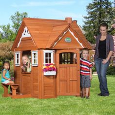Garden Playhouse,childs My Cedar Wooden Playhouse New Wendyhouse Save Pounds £££