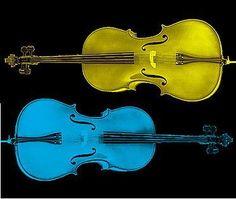 pretty colored cellos