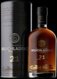 Bruichladdich 21 Year Old Whisky - Single Malt Scotch Good Whiskey, Cigars And Whiskey, Scotch Whiskey, Bourbon Whiskey, Whiskey Bottle, Whiskey Cocktails, Tequila, Vodka, Whiskey Brands