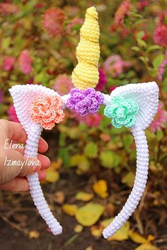 ***This pattern is available only in English. Crochet terms – US Level: easy Let me introduce the sweet headband unicorn!😍🎉 My instructions are organized and are very clear to understand. There are also high quality photos to help you along. THIS PATTERN INCLUDES: - PDF file