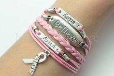 Believe charm bracelet Hope charm bracelet Faith by ModernLeisure