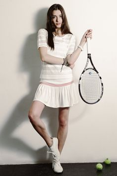all white tennis outfit