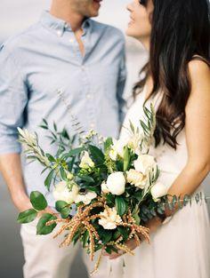 Greenery and ivory wedding bouquet: Photography: Kirill Bordon - http://www.kirillbordon.com/