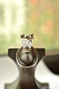 House RIng in Sterling Silver