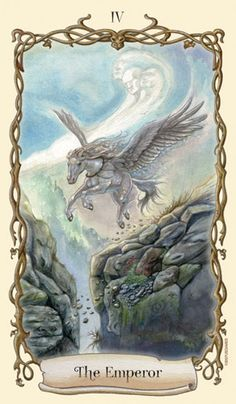 The Emperor: Pegasus by Lisa Hunt (Fantastical Creatures Tarot)