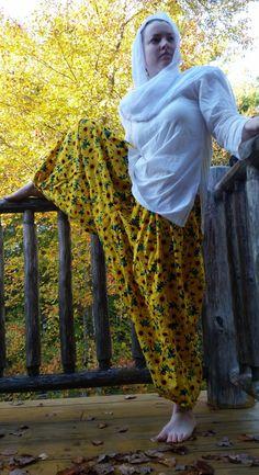 Salwar de Patiala tournesol jaune vert / Aladdin par JapPremDesigns