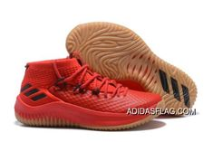 "buy online da9fe 25bfc New Release Adidas Dame 4 ""Red Gum"" ScarletHigh Resolution Red-Black"