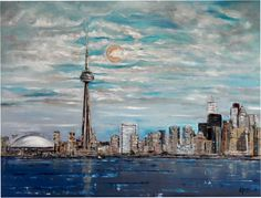 Toronto lakeview ~ oil on canvas
