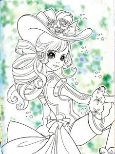 korean coloring book purple - Girly Pictures To Colour In