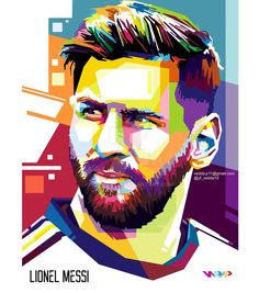 "Beautiful ""Lionel Messi"" metal poster created by Creativedy Stuff."