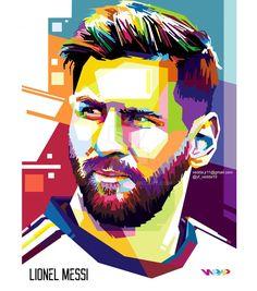 Lionel Messi In WPAP by VeddArt15
