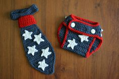 4th of July Baby Tie Photo Prop Neck Tie by EmmaGraceDesigns4