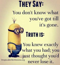 -Funny Pictures to Send or Share via Whatsapp Funny Minion Memes, Minions Quotes, Jokes Quotes, Cute Quotes, Funny Quotes, Minion Humor, Short Jokes, Lessons Learned, Be Yourself Quotes