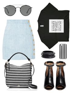 """""""Big."""" by schenonek ❤ liked on Polyvore featuring Balmain, Kate Spade, Givenchy, Ray-Ban and ZENZii"""
