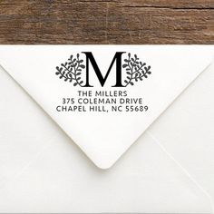 Floral Rustic Address Stamp Monogram by SouthernPaperAndInk custom address stamps | rubber stamps | calligraphy address stamps | bride | wedding