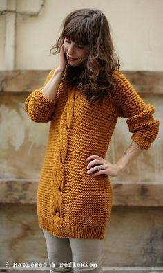 Valérie sweater... // Coatpeople Valérie braid sweat (saffron) @ Matières à réflexion #coatpeople