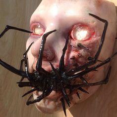 "Image of Colin Christian Original Sculpture ""Infested"" Creepy Masks, Creepy Art, Ugly Dolls, Creepy Dolls, Halloween Doll, Halloween Masks, Arte Horror, Horror Art, Aliens"