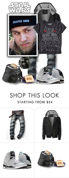 """Star wars"" by sasane ❤ liked on Polyvore featuring LE3NO, SOA, NIKE, men's fashion and menswear"