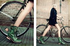 Bicycle + shoes = Love it!