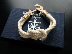 want! Sailor Knot Bracelet, Bracelet Knots, Nautical Bracelet, Knotted Bracelet, Nautical Jewelry, Anchor Bracelets, Man Bracelet, Friendship Bracelets, Jewelry Box