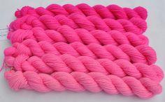 Hot Pink Gradated Yarn Set by colorshiftyarn on Etsy, $63.60