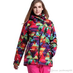 c876371add 2019 Gsou Snow Womens Ski Jackets And Coats Snowboard Jackets Ski Jacket  Ski Wear For Women Outdoor Jacket Snow Clothing Waterproof Windproof From  ...