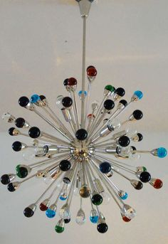 Murano Glass Sputnik Chandelier | From a unique collection of antique and modern chandeliers and pendants at http://www.1stdibs.com/furniture/lighting/chandeliers-pendant-lights/
