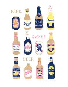 Beer Sweet Beer Print. $20.00, via Etsy.