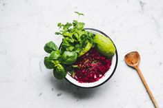 Beet Mousse made w/ cauliflower and avocado — IN THE MAKING BY BELÉN