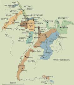 Map of German wine regions