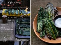 Kale chip recipe + graphic inspiration