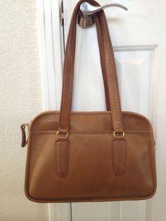 Vintage Coach Rare Skinny Flight Bag Tabac Brown Leather Cashin NYC #Coach #Satchel