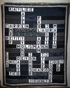 Family Crossword Puzzle Quilt