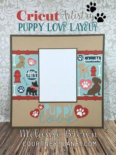 Cricut Artistry Puppy Love Scrapbook Layout